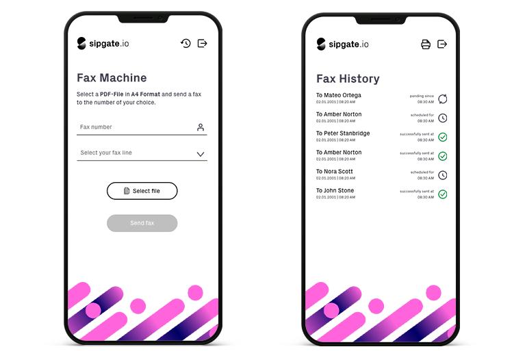 fax example app